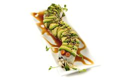 Sushi. Caterpillar roll Royalty Free Stock Photography
