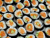 Sushi. Roll sushi Stock Photo