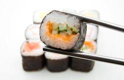 Sushi. Close up on white Stock Photo