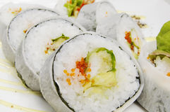 Sushi. Fresh and delicious sushi in Japan Stock Photo