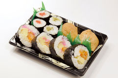 Sushi. Fresh and delicious sushi in Japan Royalty Free Stock Photos