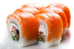 Sushi. On wight isolated on wight Royalty Free Stock Photo