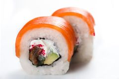 Sushi. On wight isolated on wight stock image