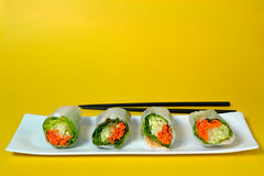 Sushi. On a plate Stock Image
