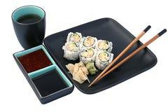 Sushi-Abendessen getrennt Lizenzfreies Stockbild