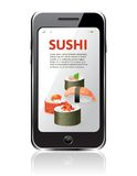 Sushi advertising Stock Photo