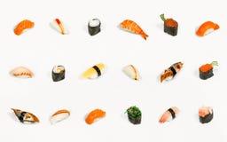 Sushi aislado Foto de archivo libre de regalías