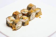 Sushi aislado en blanco Fotografía de archivo libre de regalías