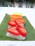 Sushi al gusto di frutta Fotografia Stock Libera da Diritti