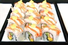 Sushi, alimento giapponese Fotografie Stock