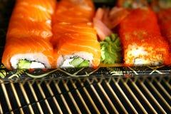 Sushi, alimento giapponese tradizionale Immagini Stock Libere da Diritti