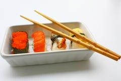 Sushi & Eetstokjes stock afbeelding
