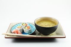 Sushi And Soup Royalty Free Stock Photography
