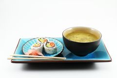 Sushi And Soup Stock Photography