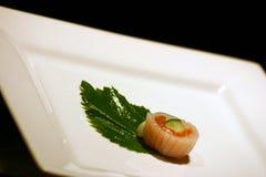 Sushi, anyone?. Sushi on a plate royalty free stock photo