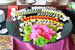 Sushi arranged Royalty Free Stock Photo