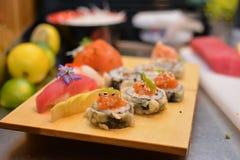 Sushi arrangement closeup Stock Image