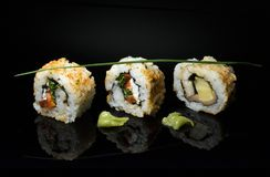 The sushi is an art form to be discovered. Sushi is an ancient art a philosophy stock photography