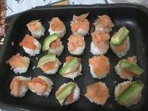 Sushi art home stock photography