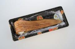 Sushi asado a la parrilla de la anguila fotografía de archivo