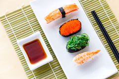 Sushi. Asia asian assortment black closeup cuisine culture delicacy delicious Royalty Free Stock Image