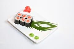 Sushi asian food. Japanese and Chinese Food, Shots for menu Royalty Free Stock Photo
