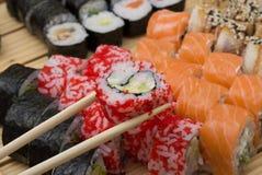 Sushi assorti lizenzfreie stockfotografie