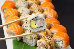 Sushi assorti stockbilder