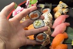 Sushi assorti Stockfotos
