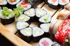 Sushi assorti Lizenzfreie Stockfotos