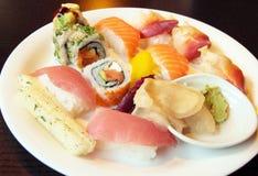 Sushi assortis Images libres de droits