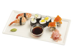 Sushi assortment Royalty Free Stock Images