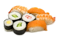 Sushi assortment Stock Images