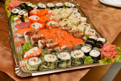 Sushi assortment plate Royalty Free Stock Image