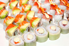 Sushi assortments Stock Photos