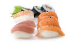 Sushi auf einem Tellersegment Lizenzfreies Stockbild