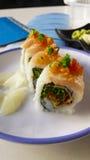 Sushi auf einer Platte Stockfotografie