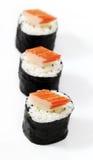 Sushi auf Spitzenkrabbenstock. Lizenzfreies Stockbild