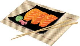 Sushi avec le wasabi Photographie stock