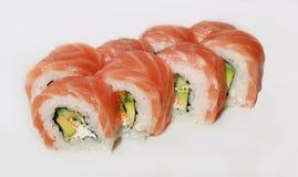 Sushi avec les poissons et le caviar Photo libre de droits