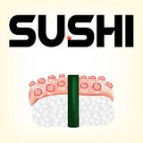 Sushi avec un poulpe Photo stock
