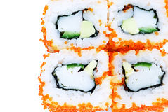 Sushi with avocado and caviar Stock Photography