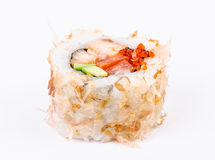 Sushi-avocado, fish and red caviar Royalty Free Stock Image