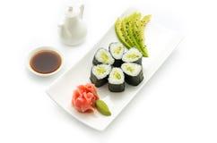 Sushi Avocado maki stock photography