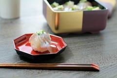 Sushi balls. Horse mackerel sushi balls packed in a box Royalty Free Stock Photo
