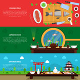 Sushi Banner Set Royalty Free Stock Photo