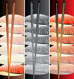 Sushi banners set Stock Photography