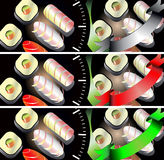 Sushi banners set Royalty Free Stock Photography