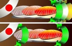 Sushi banners set Stock Image