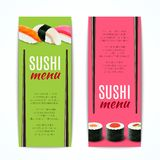 Sushi Banners Vertical Stock Photo